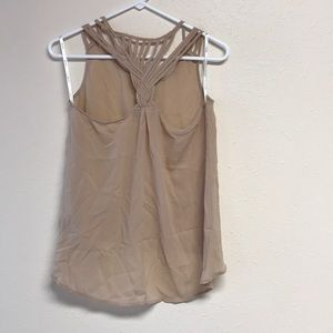 Super cute Nude tank small with detail back